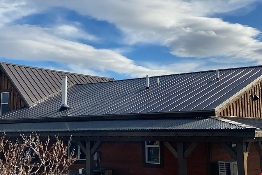 Residential Metal Roof Back Side