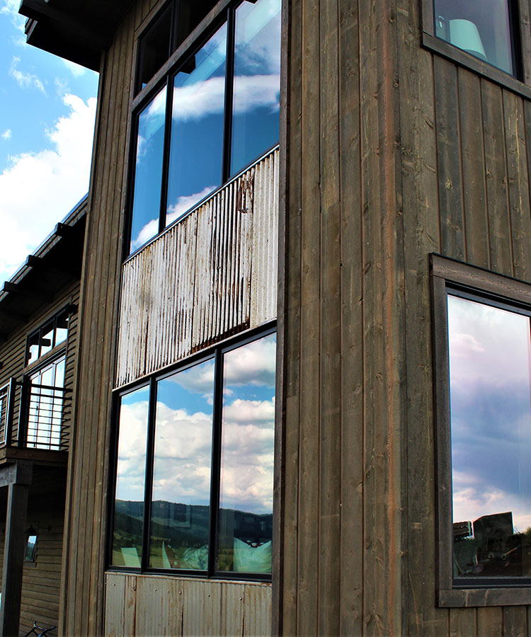 joe robb custom home metal siding panel