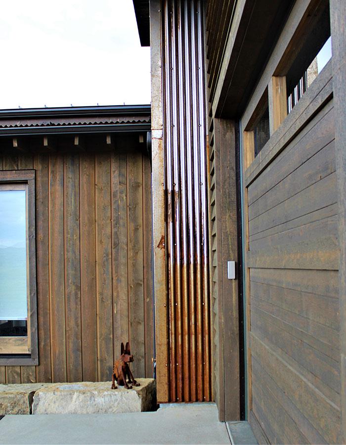joe robb custom home metal siding beam