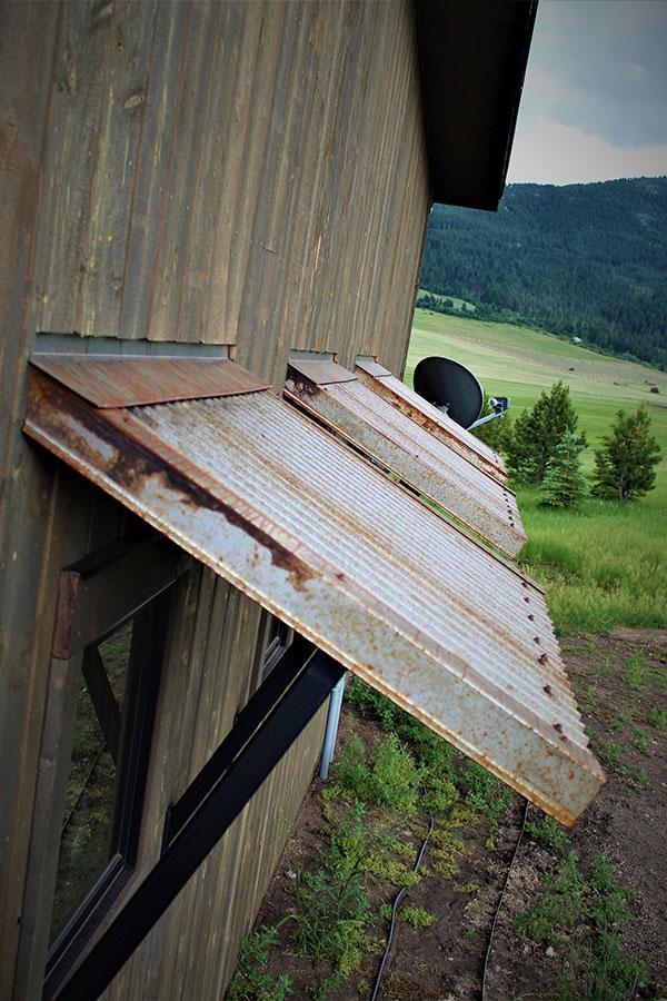 joe robb custom homes metal awnings